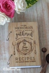 Gifts for Mom - Family Blank Personalized Recipe Book