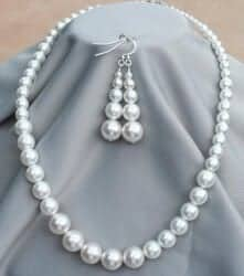 Gifts for Mom - KIT-D.I.Y. Graduated Czech Pearl Retro Wedding Set