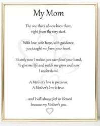 Gifts for Mom - Mom Poem