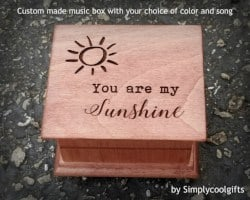Gifts for Mom - Music Box You Are My Sunshine