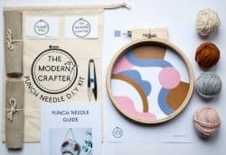 Gifts for Mom - Punch Needle 'Abstract' Hoop D.I.Y Kit