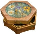 Gifts for Mom - Wooden Jewelry Box With Wildflowers