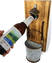 Wall Mounted Bottle Opener and Catcher