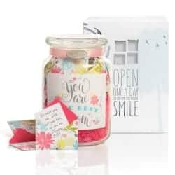 Keepsake Gift Jar with Inspirational Messages