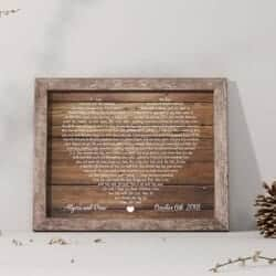 Personalized song lyric frame