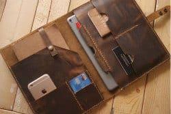 Unique Gifts for Dad - 2. leather portfolio