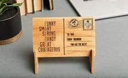 Unique Gifts for Dad - 3. wooden cards