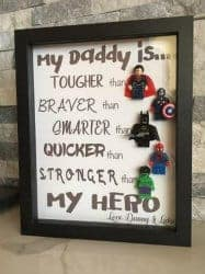 Unique Gifts for Dad - mini lego shadow box