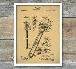 Unique Gifts for Dad - patent print