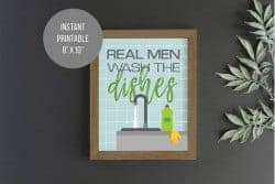 Unique Gifts for Dad - real men do dishes
