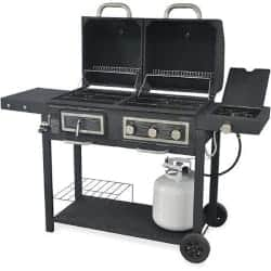 best grills - Durable Outdoor Barbeque & Burger Gas_charcoal Grill Combo