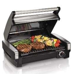 best grills - Hamilton Beach 25360 Indoor Searing Grill with Removable Easy-to-Clean Nonstick Plate