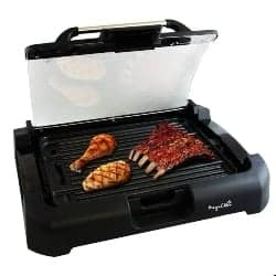 best grills - MegaChef Dual Surface Reversible Indoor Grill and Griddle with Removable Glass Lid