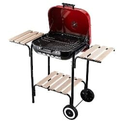"best grills - Outsunny 19"" Steel Porcelain Portable Outdoor Charcoal Barbecue Grill"