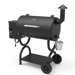 best grills - Z GRILLS Wood Pellet Grill 7-in-1 BBQ Smoker for Outdoor Cooking 550SQIN Barbecue Area 10LB Hopper (ZPG-550B)