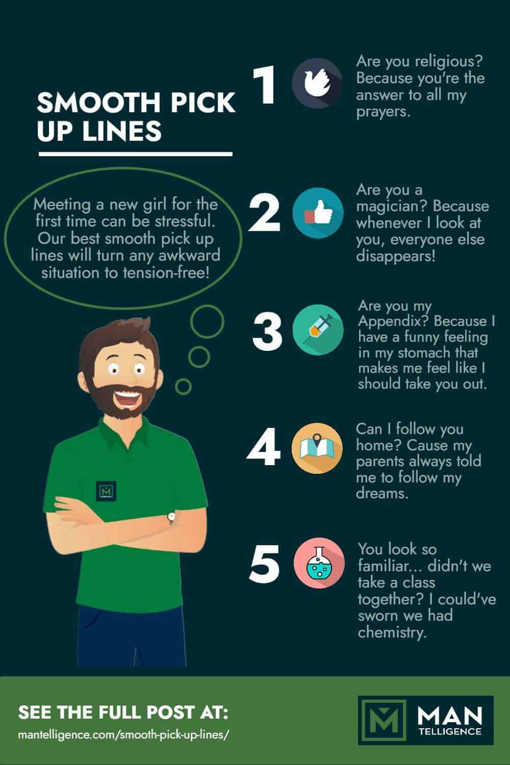 Smooth Pick Up Lines - infographic
