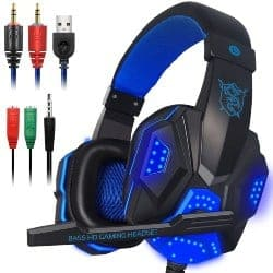 gaming accessories - Gaming Headset with Mic and LED Light for Laptop Computer