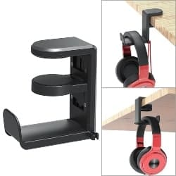gaming accessories - PC Gaming Headset Headphone Hook Holder Hanger Mount