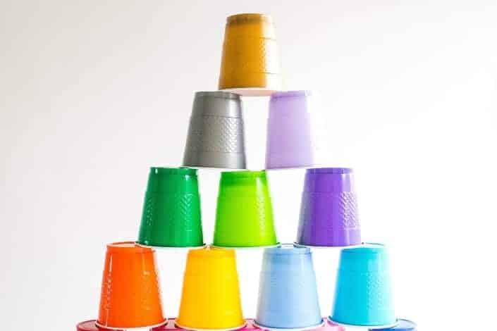 ice breaker games - cup stacking