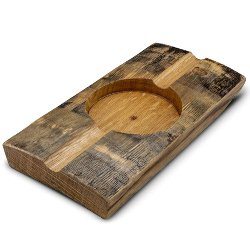 manly gifts - Briar and Oak Bourbon Barrel Stave Cigar Ashtray