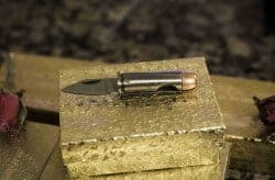 manly gifts - Bullet pocket knife