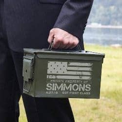 manly gifts - HomeWetBar American Heroes Personalized 50 Caliber Ammo Box Can