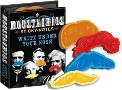 manly gifts - Moustachios Mustache Sticky Notes Booklet