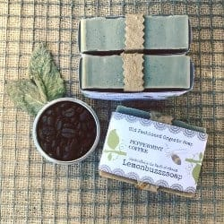 manly gifts - Peppermint Coffee Soap