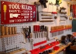 manly gifts - TOOL RULES Sign