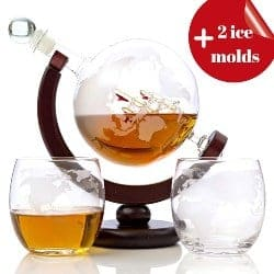 manly gifts - Whiskey Globe Decanter Set