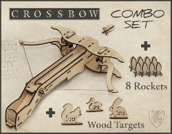 manly gifts - Wood Crossbow DIY Kit With targets