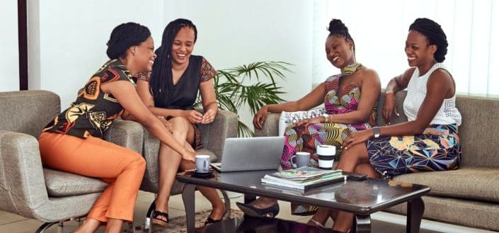 Women hanging out at home