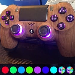 ps4 accessories - Custom PlayStation 4 Controller with LED color changing buttons