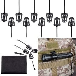 Best EDC Gear - BOOSTEADY Pack of 10 Tactical Gear Clip