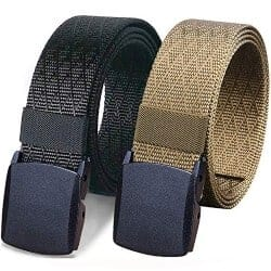 95. WYuZe 2 Pack Nylon Belt