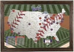 DIY Baseball Adventures Push Pin Travel Map Kit (1)
