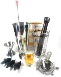 gifts for man who have everything - Boston Cocktail Shaker 10-Piece Bar Set