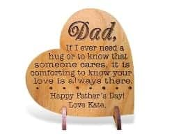 gifts for men who have everything - Custom Engraved Alder Wood Greeting Card