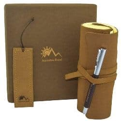 gifts for men who have everything - Inspiration Bound Handmade Leather Journal Gift Set