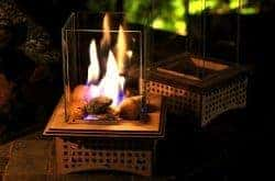 gifts for men who have everything - Tabletop Glass Fireplace