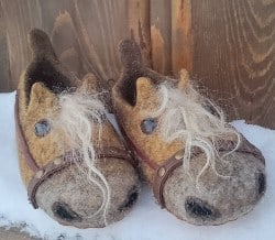 gifts for men who have everything - horses-woolen slippers