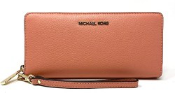 Michael Kors Women's Jet Set Travel Leather Continental Wristlet (1)
