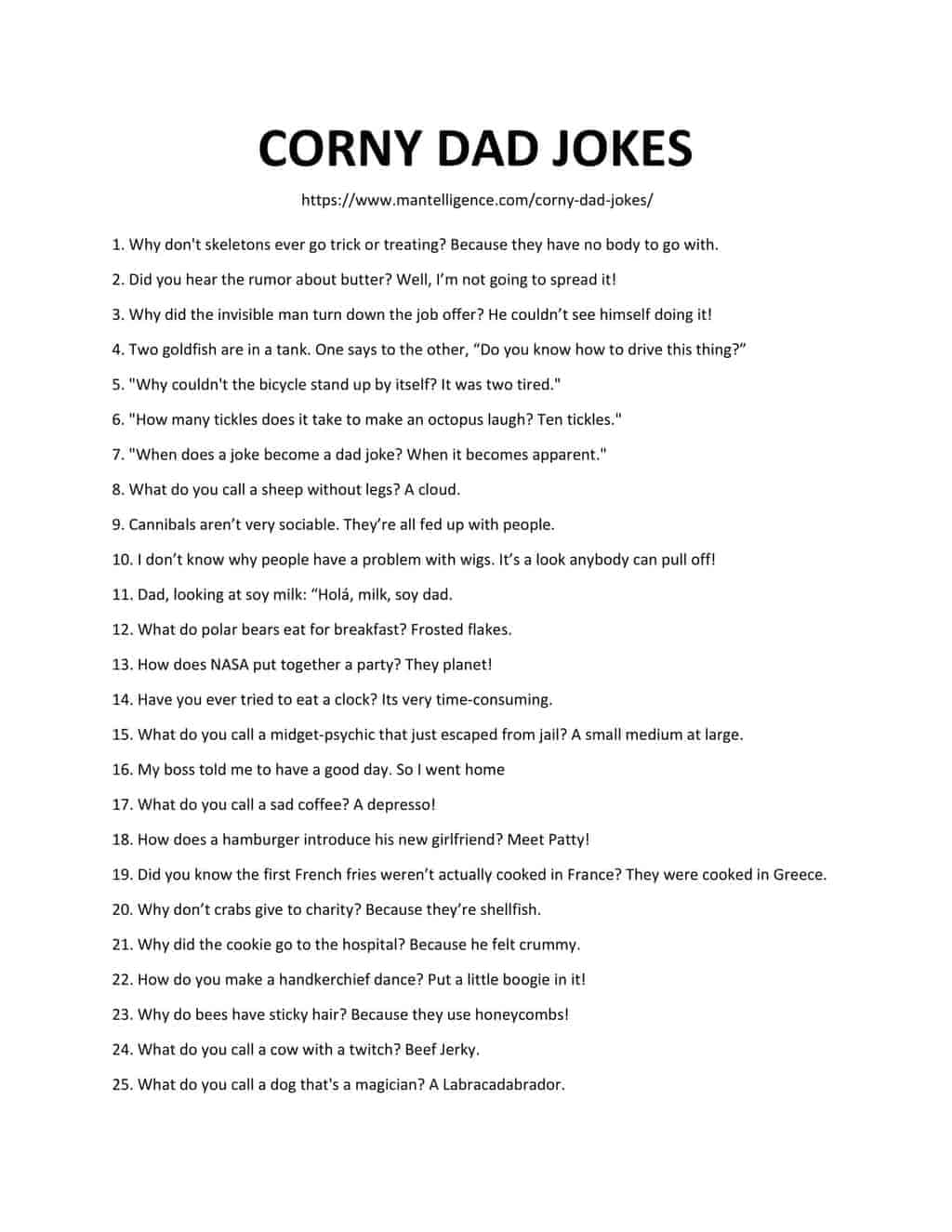 list of corny dad jokes-1