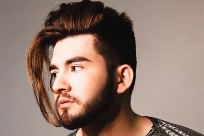 long hairstyles for men-Side Sweep Hairstyle 1