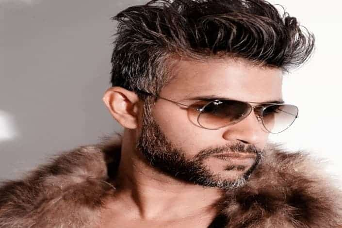 Long hairstyles for men - Long spiky fade