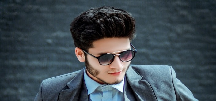 Mens short hairstyle for thick hair