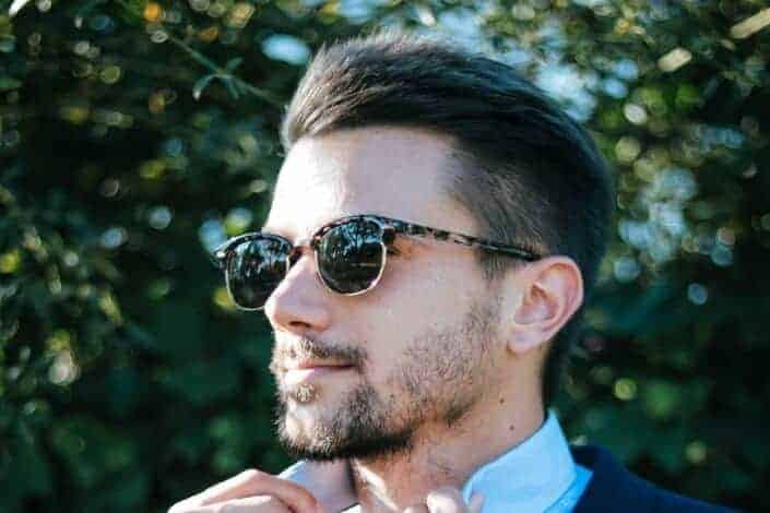 short Hairstyles For Men -Classic Combed Back Style