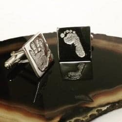 gifts for dad who has everything-Silver hand Cufflinks (1)