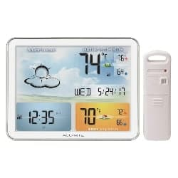 gifts for dad who has everything-Weather Station with Jumbo Display and Atomic Clock (1)