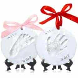 gifts for new dads - Baby Handprint Footprint Ornament Keepsake Kit